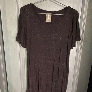 Purple speckled t shirt dress